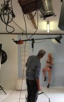blonde escort playing fantasty with male