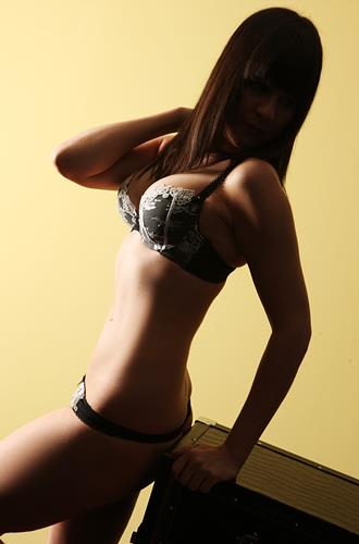 brunette escort on date with a client