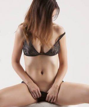 brunette slender woman